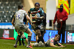 Nemani Nadolo of Leicester Tigers makes a break out of defence - Mandatory by-line: Nick Browning/JMP - 29/01/2021 - RUGBY - Mattioli Woods Welford Road - Leicester, England - Leicester Tigers v Sale Sharks - Gallagher Premiership Rugby