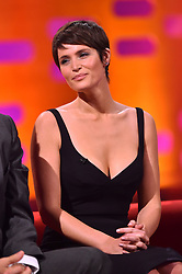 Gemma Arterton during filming of the Graham Norton Show at The London Studios, south London, to be aired on BBC One on Friday evening.