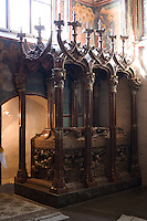 interior of the Wawel Cathedral in Krakow Poland