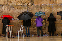Women's section, Western Wall (Wailing Wall), Old City, Jerusalem, Israel.