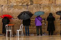 Women's section, Western Wall (Wailing Wall), Old City, Jerusalem, Israel.