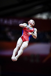 November 2, 2018 - Doha, Qatar - Rye Yong Pyon of North Korea   during  Vault for Women at the Aspire Dome in Doha, Qatar, Artistic FIG Gymnastics World Championships on 2 of November 2018. (Credit Image: © Ulrik Pedersen/NurPhoto via ZUMA Press)