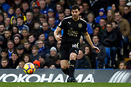Aleksandar Dragovic of Leicester City in action. Premier League match, Chelsea v Leicester City at Stamford Bridge in London on Saturday 13th January 2018.<br /> pic by Steffan Bowen, Andrew Orchard sports photography.