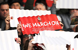 Close up of the Southampton Clap-Banner prior to kick-off