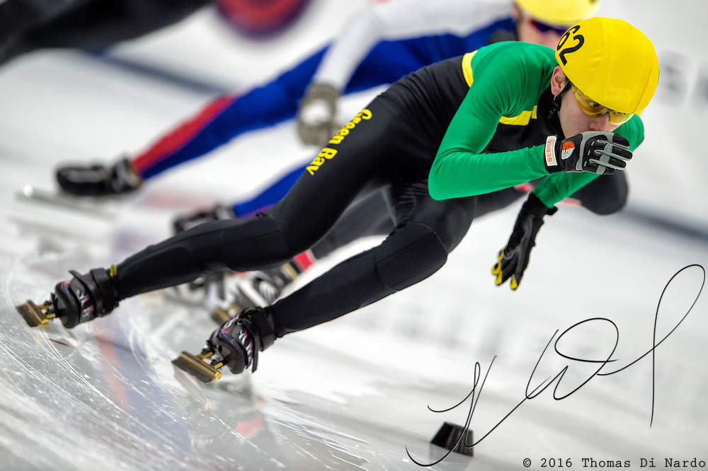 March 20, 2016 - Verona, WI - Steven Fredeen, skater number 62 competes in US Speedskating Short Track Age Group Nationals and AmCup Final held at the Verona Ice Arena.