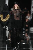 Maartje Verhoef walks the runway wearing PUMA x FENTY by Rihanna Fall 2016 during New York Fashion Week on February 12, 2016