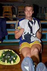 22-04-2003 VOLLEYBAL: PIET ZOOMERS DYNAMO - OMNIWORLD: APELDOORN<br /> Finale play-offs Piet Zoomers wint het landkampioenschap / Joost Kooistra<br /> ©2003-Ronald Hoogendoorn
