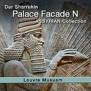 Assyrian Korsabad Palace Facade N Dur Sharrukin Relief Sculptures - Louvre - White