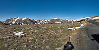 Panorama from Trail Ridge Road. Rocky Mountain National Park. Composite of four images taken with a Nikon D200 camera and 14 mm f/2.8 lens (ISO 100, 14 mm, f/11, 1/200 sec).