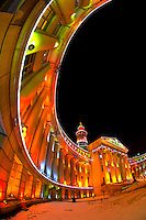 The City and County Building, Denver Civic Center, decorated for the holidays, Downtown Denver, Colorado USA