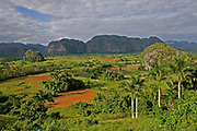 Limestone hill scenery and rural agricultural landscape surrounding Vinales