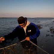 Jordin Tootoo grew up in a small village along the Hudson Bay only a hundred miles from the Arctic Circle. He is the first Inuit to play professionally in the National Hockey League and comes from Rankins Inlet in Northeast Canada. During the off season, Jordin spends time fishing and hunting with his family. Like nearly everyone in Rankins Inlet, living off the land is a way of life. Photographed for Sports Illustrated. <br /> <br /> Image available for licensing and for a personal print. Please Add To Cart and select the size and finish. All prints are delivered directly to you from the printer.