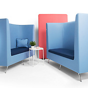 A studio shoot for an office furniture company.