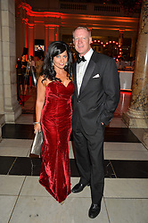 JENNIFER ANTON Head of Cosmetics Marketing for Revlon UK and CLINT BARTMAN at the Revlon Choose Love Masquerade Ball held at the V&A Museum, Cromwell Road, London on 21st July 2016.