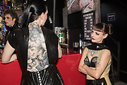 KATE LOMAX, TALLULAH BLUE,  Steve Diet's Extempore Circa book launch and showing of the nina doroushi collection, resistance gallery, 265 poyser st. london e2 9RF