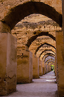 Morocco. Heri es- Souani, the old granary and stables for some of Moulay Ismails 12000 horses in Meknes.