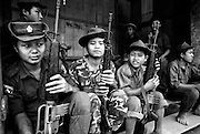 Child guerrillas with the Karen National Liberation Army. Both the government of Burma and guerrilla factions opposing the military junta use children as combatants.
