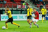 ALKMAAR - 23-09-2015, KNVB beker, AZ - VVV Venlo, 2e ronde, AFAS Stadion, 6-1, AZ speler Markus Henriksen scoort hier de 5-1, doelpunt.