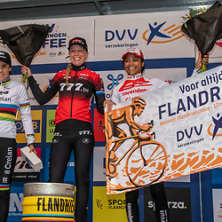 2019-11-17 Cycling: dvv verzekeringen trofee: Flandriencross: Annemarie Worst wint de Flandriencross, Sanne Cant was second and Ceylin del Carmen Alvarado finished third