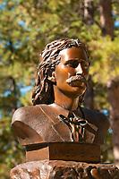 Wild Bill Hickok's grave, Mt. Moriah Cemetery, Deadwood, Black Hills, South Dakota USA