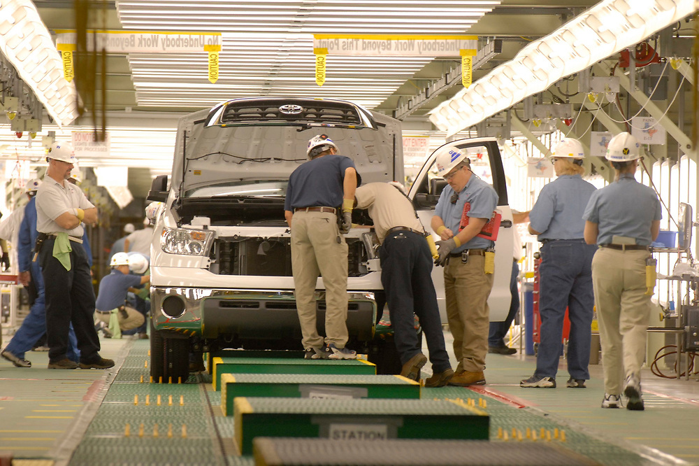 San Antonio, TX, November 15, 2006:  New Toyota Tundra pickup truck assembly plant, with first 2007 models rolling off production line. ©Marjorie Cotera / Daemmrich Photography /