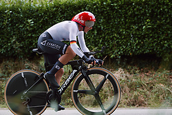 Lisa Brennauer (GER) at the 2020 UEC Road European Championships - Elite Women ITT, a 25.6 km individual time trial in Plouay, France on August 24, 2020. Photo by Sean Robinson/velofocus.com