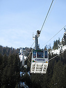 Italy, Italian Alps, The Dolomites Cable Car