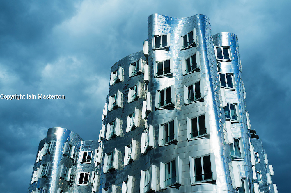 The Neuer Zollhof building at the Medienhafen, Düsseldorf, Germany Architect Frank Gehry