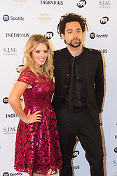 Grosvenor House Hotel, London, November 7th 2016. Luminaries from the music industry gather at the Grosvenor House Hotel for the Music Industry Awards, where this year The Who's Roger Daltrey CBE is honored with the 25th annual MITS award in support of Nordoff Robbins and The BRIT Trust. PICTURED: The Shires