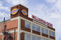 August 14, 2017 - Fort Worth, TX, USA - Williamson-Dickie Manufacturing announced Monday, Aug. 14, 2017, its acquisition by VF Corporation. Dickies, as it is often called, is a long-time Fort Worth company known for making heavy duty work clothing. Williamson-Dickie headquarters is at 509 W. Vickery Blvd. in Fort Worth, Texas. (Credit Image: © David Kent/TNS via ZUMA Wire)