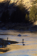 Fly Fishing on the Missouri River, Montana.