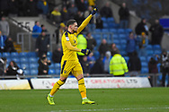 Oxford United midfielder Marcus Browne (10) scores a goal 1-1 and celebrates during the EFL Sky Bet League 1 match between Oxford United and Sunderland at the Kassam Stadium, Oxford, England on 9 February 2019.