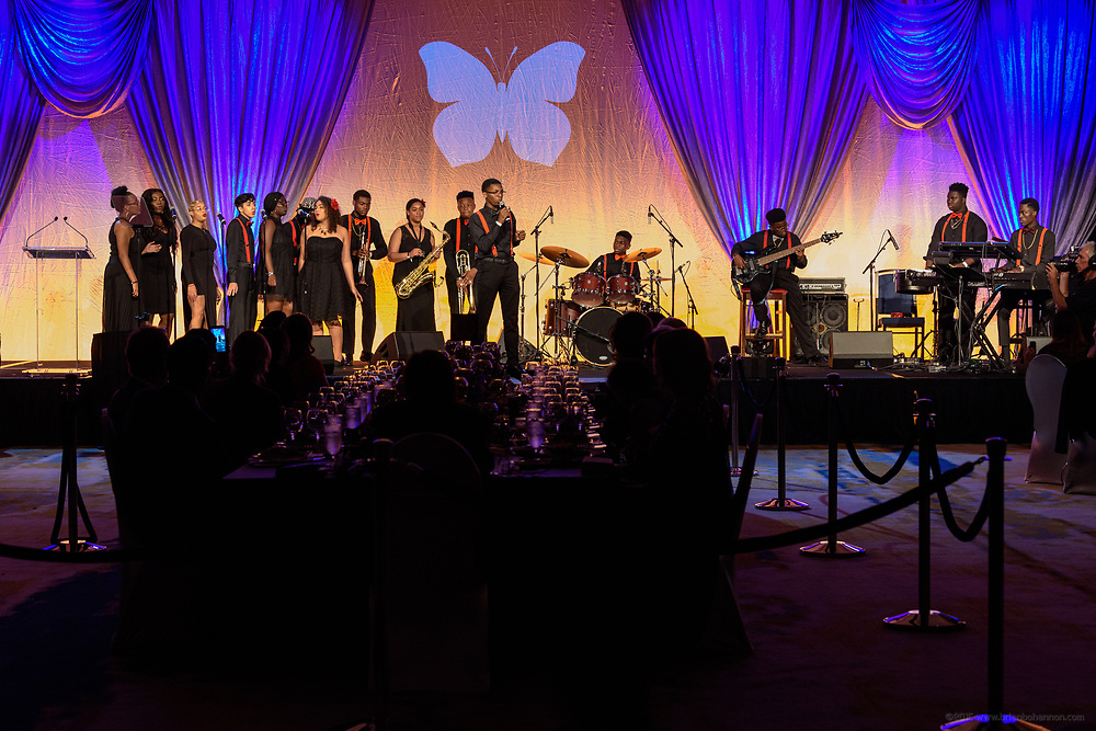 The Paragon Project performs at the fifth annual Muhammad Ali Humanitarian Awards Saturday, Sept. 23, 2017, at the Marriott Louisville Downtown in Louisville, Ky. (Photo by Brian Bohannon/Invision for Muhammad Ali Center/AP Images)