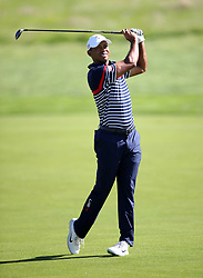 Team USA's Tiger Woods during preview day four of the Ryder Cup at Le Golf National, Saint-Quentin-en-Yvelines, Paris. PRESS ASSOCIATION Photo. Picture date: Thursday September 27, 2018. See PA story GOLF Ryder. Photo credit should read: Adam Davy/PA Wire. RESTRICTIONS: Editorial use only. No commercial use.