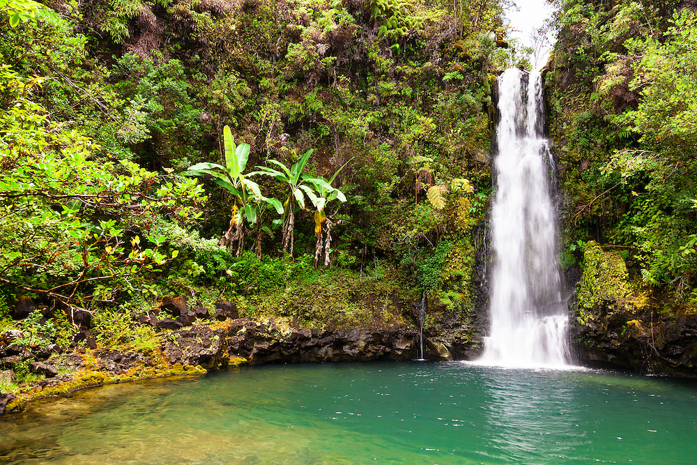 This well-hidden waterfall along the Road to Hana is worth the search. Hint: It is the fourth waterfall at Pua'a Ka'a State Park.