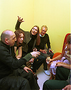 Plum Sykes and Michael White. Mathew Williamson party. Bar, St. Martin's hotel. 22/9/99<br />© Copyright Photograph by Dafydd Jones 66 Stockwell Park Rd. London SW9 0DA Tel 020 7733 0108 www.dafjones.com