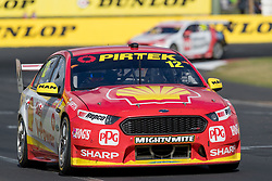 October 8, 2018 - Bathurst, NSW, U.S. - BATHURST, NSW - OCTOBER 07: Fabian Coulthard / Tony D'Alberto in the Shell V-Power Racing Team Ford Falcon at the Supercheap Auto Bathurst 1000 V8 Supercar Race at Mount Panorama Circuit in Bathurst, Australia on October 07, 2018 (Photo by Speed Media/Icon Sportswire) (Credit Image: © Speed Media/Icon SMI via ZUMA Press)