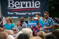 Senator Bernie Sanders speaking at the Wolfeboro Inn for the 2020 Presidential run.  Karen Bobotas for the Laconia Daily Sun