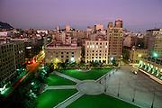 Plaza de la Constitucion, Santiago, Chile.