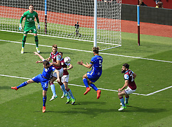 23 April 2017 - EFL Championship Football - Aston Villa v Birmingham City - Nathan Baker of Aston Villa clears a Birmingham City attack - Photo: Paul Roberts / Offside