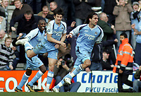 Photo: Paul Thomas.<br />Preston North End v Manchester City. The FA Cup. 18/02/2007.<br /><br />Georgios Samaras (R) runs off to celebrate his goal.