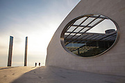 Champalimaud Center for the Unknown, opened in 2010 at the mouth of the River Tagus in Lisbon, features diagnostic and treatment units for cancer patients on the lower floors and research labs above, aimed at research on cancer and neuroscience.
