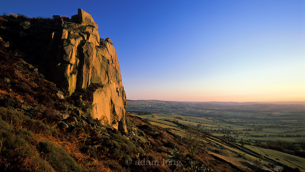 Hazel Findlay soloing Appaloosa Sunset, E3 5c, Five Clouds, Roaches, Peak District