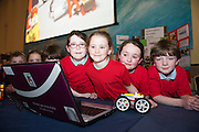 Clontuskert NS at the Galway Education centre's Junior First Lego League at the Radisson Blu hotel. Photo:Andrew Downes, xposure.