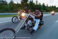 """The Horse Magazine publisher Ralph """"Hammer"""" Janus on the ride from Camp Lejeune Marine base in NC to Suck, Bang, Blow in Murrells Inlet in SC on the way to the Smokeout 2015. USA. June 17, 2015.  Photography ©2015 Michael Lichter."""