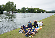 Henley on Thames, United Kingdom. 2016 Henley Masters' Regatta. Henley Reach. England. on Saturday  09/07/2016   [Mandatory Credit/ Peter SPURRIER/Intersport Images]<br /> <br /> Waiting for racing to start, Rowing, Henley Reach, Henley Masters' Regatta.<br /> <br /> General View,  Henley Reach, venue, for the 2016 Henley Masters Regatta.
