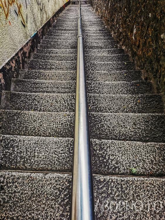 Cornwall, England, UK Jacobs Ladder, Falmouth,