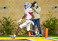 AC Flora Falcons wide receiver Eriq Rice (12) scores a touchdown on a long reception against the North Myrtle Beach Chiefs during the first half the state championship game at Benedict College.