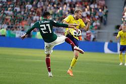 June 27, 2018 - EUM20180627DEP47.JPG.EKATERIMBURGO, Rusia, SoccerFutbol-Mundial México.- Aspectos del partido entre la Selección Mexicana y su similar de Suecia, la Arena de Ekaterimburgo, este 27 de junio de 2018, en donde los mexicanos cayeron 3-0; sin embargo, ambas selecciones pasaron a octavos de final de la Copa del Mundo. Foto: Agencia EL UNIVERSALLuis CortésMAR. (Credit Image: © El Universal via ZUMA Wire)