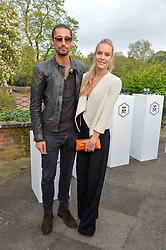 HUGO TAYLOR and HUM FLEMING at a party to launch the Taylor Morris Explorer Collection held at the Serpentine Lido, Hyde Park, London on 11th May 2016.